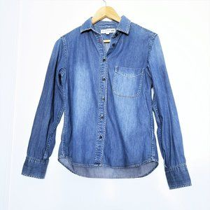 Uniqlo Ines De La Fressange Chambray Button Up Top